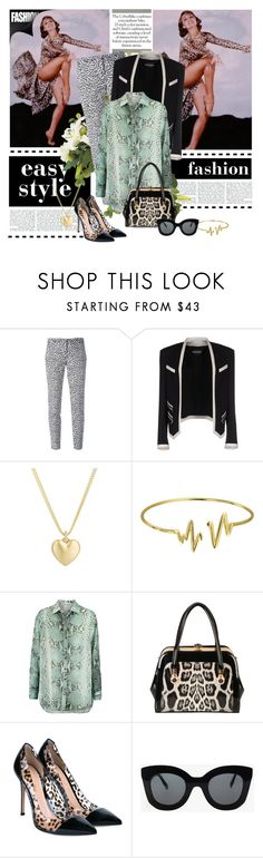 """THE RUMBLE IN THE JUNGLE: MS CYD CHARISSE, SHALL WE DANCE?"" by g-vah-styles ❤ liked on Polyvore featuring MICHAEL Michael Kors, Balmain, Finn, Bling Jewelry, Pierre Balmain, Rimen & Co., Gianvito Rossi and CÉLINE"