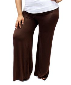 Look what I found on #zulily! Chocolate Palazzo Pants - Plus #zulilyfinds