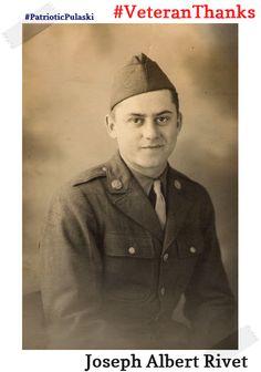 #PatrioticPulaski thanks Joseph Albert Rivet for his service! #VeteranThanks #PulaskiCountyUSA #ReuniteInPulaski #Army