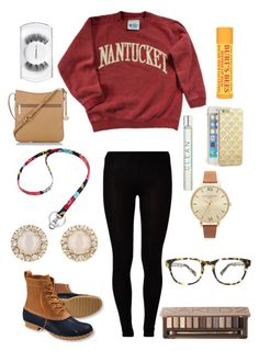 """""""New England Prep"""" by holly-eastmond ❤ liked on Polyvore featuring L.L.Bean, Warby Parker, Kate Spade, Majestic, Vera Bradley, Urban Decay, Brahmin, Olivia Burton, CLEAN and Sonix"""