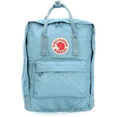 FjällRäven Kånken Backpack light blue ❤ liked on Polyvore featuring bags, backpacks, fjallraven rucksack, rucksack bags, fjallraven backpack, day pack rucksack and fjallraven bag