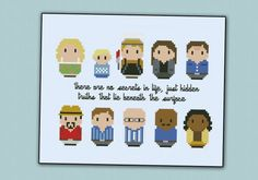 Dexter - TV series - Mini People - Cross Stitch Patterns - Products