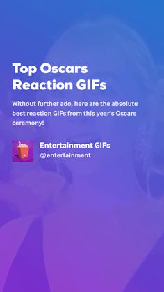 Without further ado, here are the absolute best reaction GIFs from this year's Oscars ceremony! Movie Gifs, Entertaining, Amor, Animales, Funny