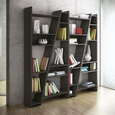 Delta - Modular Shelf or Display Unit in Black or White with Backs by Temahome