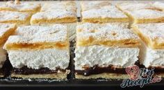 Frieze cake from tin alla Petra- Friesentorte vom Blech alla Petra A shortcrust pastry cake, vanilla-flavored quark-whipped cream filling and a refreshing plum-jam topping. Petra, Oreo Dessert Recipes, Cake Recipes, Pasta Recipes, Short Pastry, Plum Jam, Gateaux Cake, Shortcrust Pastry, Cake & Co