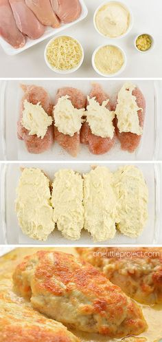 This recipe for creamy garlic parmesan chicken tastes AMAZING and it's so simple to prepare! The chicken is tender and juicy and the cheese melts in your mouth. Such a quick and easy dinner recipe tha Yummy Recipes, Cooking Recipes, Yummy Food, Dessert Recipes, Copycat Recipes, Pasta Recipes, Crockpot Recipes, Cooking Tips, Soup Recipes