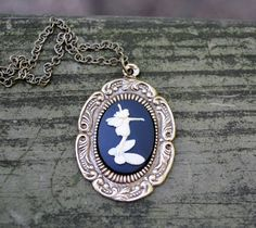 Fairy Cameo Necklace by cynicalredhead on Etsy