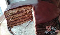 Nejlepší medový dort politý čokoládou   NejRecept.cz Tiramisu, Baking, Ethnic Recipes, Food Ideas, Bakken, Tiramisu Cake, Backen, Sweets, Pastries