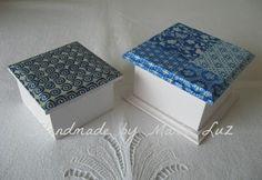 """Handmade by María Luz"": cajas decoupage"