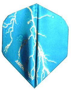 One Set #3429 Amerithon Blue on Silver Lightning Bolt Dart Flights - Standard Shape by Amerithon Flights. $1.75. #3429