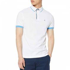 White Slim Fit Cotton Polo Shirt