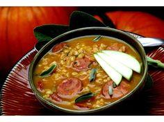 pumpkin, barley, and sage soup