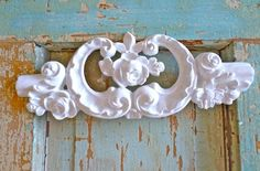 Shabby Chic Carved Crest with Roses Furniture by diychicgirl, $14.95
