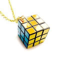 Collar Rubik (Azul & Oro)