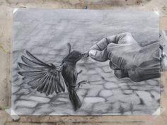 Carboncillo - @hernnoso en Instagram Moose Art, Painting, Animals, Instagram, Animales, Animaux, Painting Art, Paintings, Animal