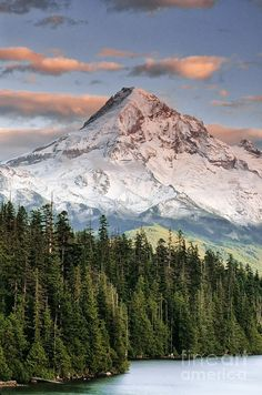 Sunset at Mt. Hood in Oregon.   Click on photo for home videos and more on Hotels, Restaurants and Things 2 Do.
