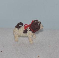 Vintage Dog Artist Dog Miniature Dollhouse