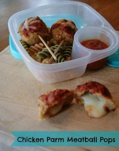 Chicken Parm Meatball Pops Recipe - step out of the lunch box sandwich zone with this food on a stick!