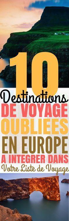 Ne souhaiteriez-vous pas aller quelque part de différent pour changer ? Il y a de nombreux endroits en Europe qui ne demandent qu'à être explorés!