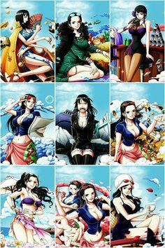 Evolution of Nico Robin One Piece Anime, Ace One Piece, One Piece Crew, One Piece Fanart, One Piece Luffy, Nico Robin, Manga Girl, Anime Art Girl, One Piece Drawing