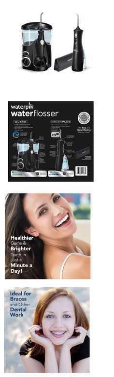 Air and Water Flossers: Water Flosser Waterpik Ultra Plus Cordless Travel Combo Pack Black With 12 Tips -> BUY IT NOW ONLY: $105.56 on eBay!
