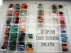 Cross stitch tips