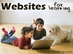 favorite websites for kids - great for an after school quiet activity... they can play and learn