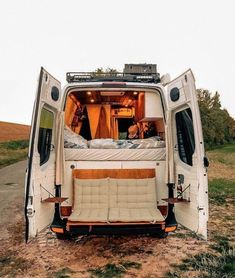 Couple's Van Life with a Tailgate Loveseat on their DIY VW C.- Couple's Van Life with a Tailgate Loveseat on their DIY VW Crafter Conversion Couples Van Life with a Flip Down Tailgate Loveseat 001 - Cargo Van Conversion, Camper Van Conversion Diy, Ford Transit Camper Conversion, Van Conversion Interior, Sprinter Van Conversion, Van Conversion Bed Ideas, Van Conversion With Bathroom, Vw Camper Conversions, Van Cargo