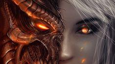 3840x2160 3840x2160 Wallpaper diablo 3, girl, art, angels, demons
