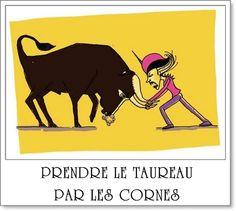 Prendre le taureau par les cornes: S'attaquer à une difficulté avec détermination