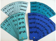 Nonsense Word Fluency Fans!  In this set, the initial blends (or triple clusters) and final consonants of the nonsense word remain the same across all 5 words on the fluency fan blade and each vowel is represented once. As the only thing that changes on each individual blade is the vowel, occasionally a real word sneaks in. $