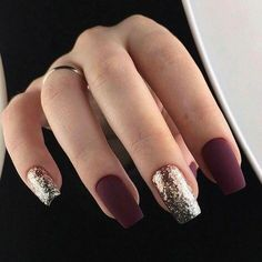 Trendy Manicure Ideas In Fall Nail Colors;Purple Nails; Fall Nai… Trendy Manicure Ideas In Fall Nail Colors;Purple Nails; New Year's Nails, Fun Nails, Bling Nails, Cute Fall Nails, Bio Gel Nails, Coffen Nails, Simple Fall Nails, Cute Short Nails, Glam Nails