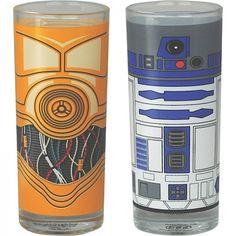 Star Wars - Gläser Set C3PO und R2D2