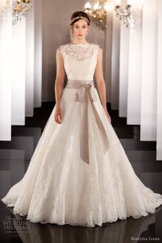martina liana fall 2013 wedding dress style 437. I wish this had sleeves of some sort, the shape is perfect!