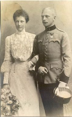 Granddaughter of Empress Sissi , the lovely Princess Elizabeth of Austria, and her Husband Otto of Windisch Graetz