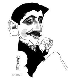 Marcel Proust ; auction a different image: http://www.christies.com/lotfinder/drawings-watercolors/david-levine-portrait-of-marcel-proust-5399791-details.aspx