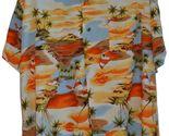 Men's XL Hawaiian Shirt -Made in Hawaii by Handsome -Palm Trees - 100% Rayon