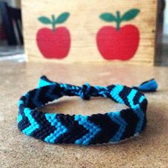 << Chevron Handmade Macrame Bracelet  >> Cool turquoise & black handmade macrame/friendship bracelet by me. Discount on bundles and get one FREE with purchase !!! ⓢⓘⓩⓔ: Bracelet's 10 inches long (size may vary) Jewelry Bracelets