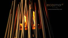 The EcoSmart Fire Stix consists of varying-sized tubular stainless steel 'sticks' that are secured around an efficient 3 litre burner, it is powered by clean.