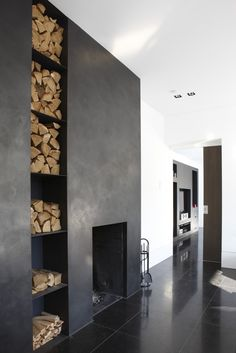 Great fireplace. And look further along, like the TV built in. Could put next to each other?
