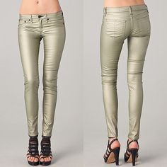 Rag & Bone metallic legging jeans