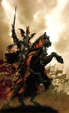 Uther Pendragon (Father of King Arthur) by Didier Graffet (reminded me of Targaryens) Fantasy Warrior, Fantasy Battle, High Fantasy, Fantasy Rpg, Dark Fantasy Art, Medieval Fantasy, Fantasy Artwork, Warhammer Fantasy, Armadura Viking