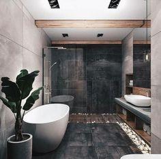 On a budget bathroom design ideas. Every bathroom remodel starts with a design i… On a budget bathroom design ideas. Loft Design, Design Case, House Design, Design Design, Bathroom Design Inspiration, Design Ideas, Interior Inspiration, Bathroom Design Luxury, Luxury Bathtub
