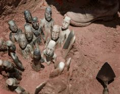 4th offering of La Venta. Olmec jade figurines found in 1955. Article/Archaeologynewsnetwork: Evidence of Olmec expansion as far as Guatemala.