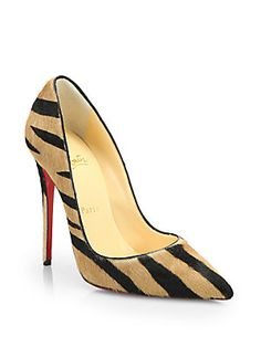 Christian Louboutin So Kate Striped Calf Hair Pumps Yassssss love...Love...LOVE!!!!