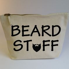 Beard Stuff Accessory Zip Bag. Funny Gift For Him. Dad Gift. Moustache Gift. Beard Bag. Grooming Kit Bag. Beard Stuff Bag. Toiletry Bag. by SoPinkUK on Etsy