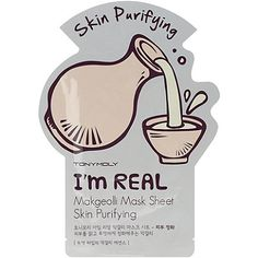 Sheet Mask || I'm Real Makgeolli Mask Sheet Skin- Purifying (refine skin to a more translucent & smooth complexion)