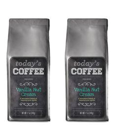 Love this Today's Coffee Vanilla Nut Cream - Set of Two by Paramount Coffee on #zulily! #zulilyfinds
