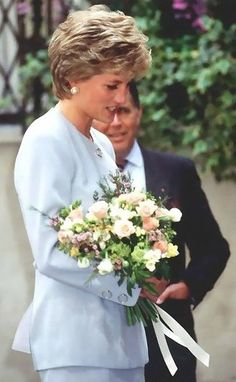 """April 18, 1995: Princess Diana at the """"Pied Piper"""" Appeal luncheon at The Royal Overseas League , London."""