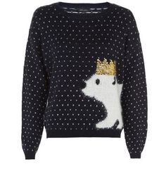 "Try this festive knit with blue skinny jeans and lace up shoe boots for an effortless approach to Christmas looks.- Simple long sleeves- Metallic crown detail- Classic crew neckline- Polar bear image print- Knitted fabric- Model is 5'8""/176cm and wears UK 10/EU 38/US 6Visit our Christmas guide >>>"
